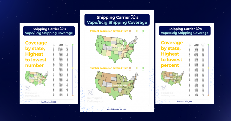 Shipping Carrier X Delivery's Vape/Ecig Coverage (Live Updates)