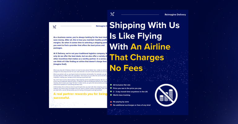 Shipping With X Delivery is Like Flying With an Airline That Charges No Fees