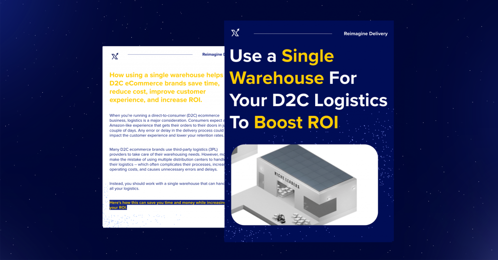 Use a Single Warehouse For Your D2C Ecommerce Shipping To Boost ROI