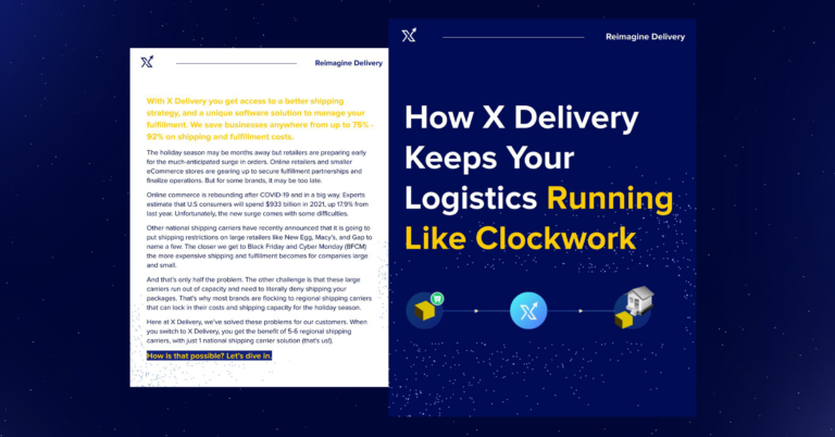 How X Delivery Keeps Your Logistics Running Like Clockwork