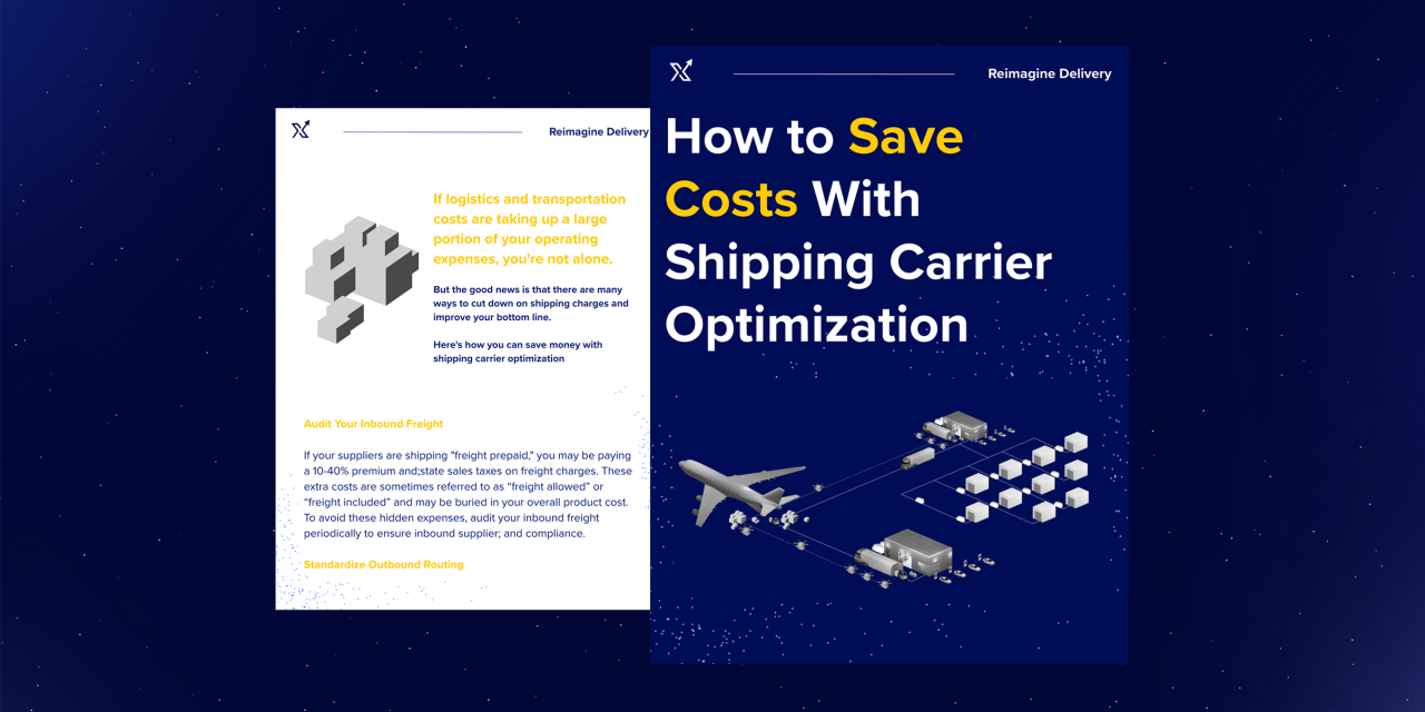 How To Save Costs With Shipping Carrier Optimization